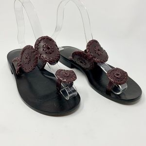 Jack Rogers Santa Fe Sandals in Brown Leather